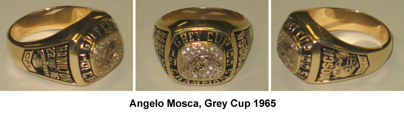 Angelo Mosca Grey Cup Ring, 1965