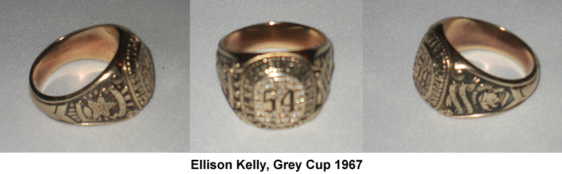 Ellison Kelly Grey Cup Ring, 1967