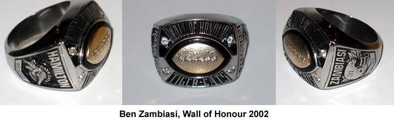 Ben Zambiasi Wall of Honour Ring